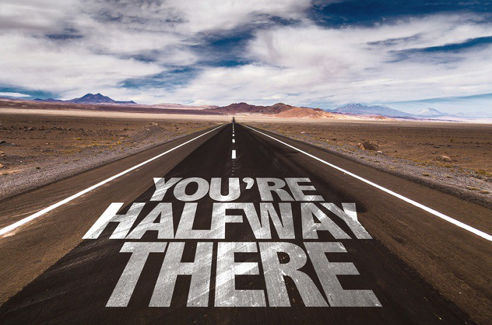 We're half way...